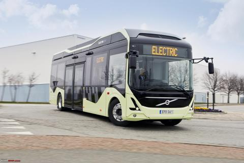 A photo of an electric bus